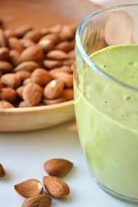 You can always leave the greens out of this Almond Milk Smoothie if you prefer a cream coloured smoothie