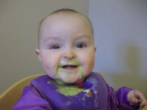 My baby drinking Green Smoothies telling me which is her favourite