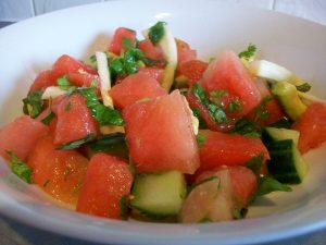 Watermelon Avocado Fennel Summer Salad