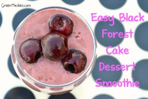I dare you to try this Easy Black Forest Cake Dessert Smoothie and not adore it