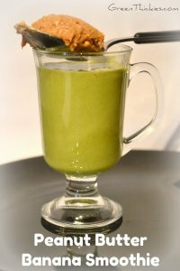 This Peanut Butter Banana Smoothie is not only gorgeous but has an added healthy green bonus.