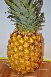 Almost ripe pineapple