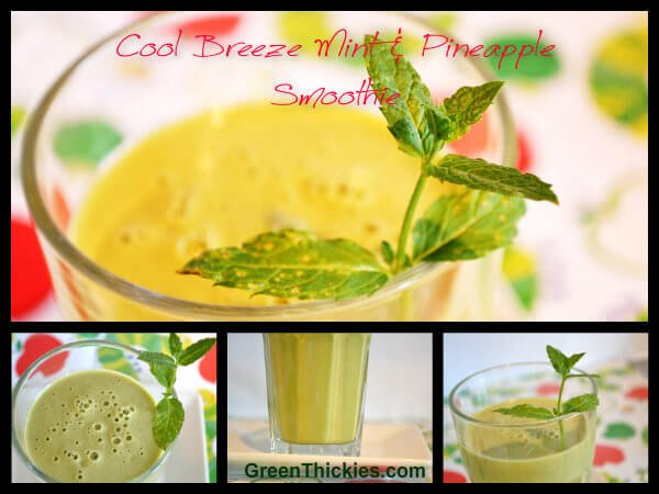 Cool Breeze Mint and Pineapple Smoothie Recipe and how water can keep you awake: (Green Smoothie/Green Thickie)