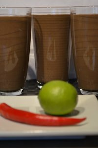 Chocolate, Chili and lime Green Thickies