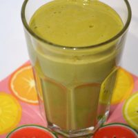 Peach and Orange Juice Smoothie and Fasting (Green Smoothie/Green Thickie)