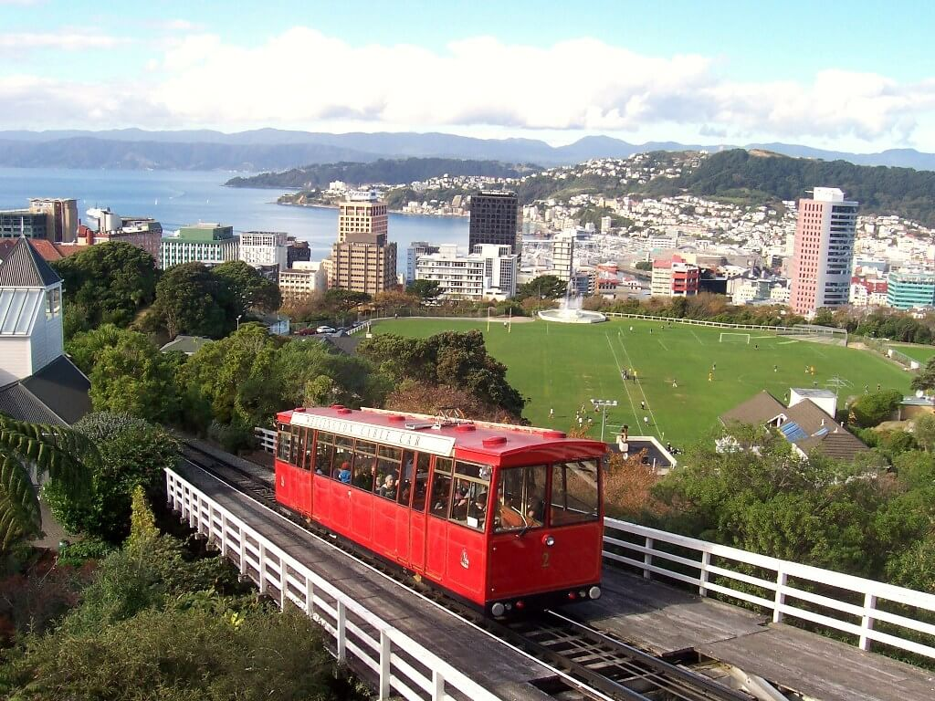 New Zealand Wellington Cable car and Kiwi obsession Green Thickies Green Smoothies