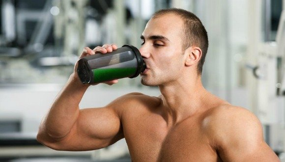 Green smoothies for men Iron man drinking a green smoothie chlorophyll
