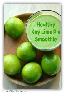 Adorable Healthy Key Lime Pie Smoothie recipe (Green Smoothie/Green Thickie)