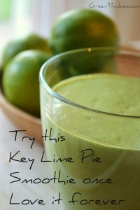 Healthy Key Lime Pie Smoothie: Refreshing, tangy and very addictive