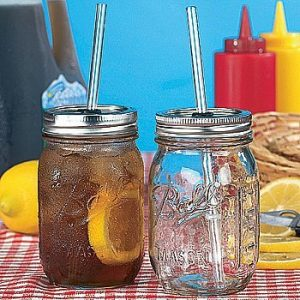 12 Rednek Sipper Jar Set Hillbilly Home Drinking Collection with Lid and Straw