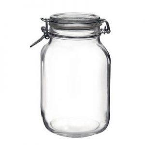Bormioli Rocco Fido Round Clear Mason Jar, 67 Ounce