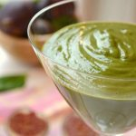 Fresh Fig Smoothie with ginger green smoothie