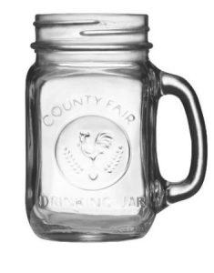 Libbey Country Fair 16-Ounce Drinking Jar with Handle, Set of 12