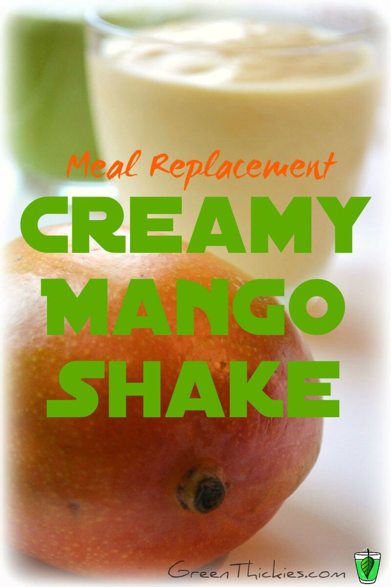 Dairy free milk and mango are a match made in heaven in this Meal Replacement Creamy Mango Shake