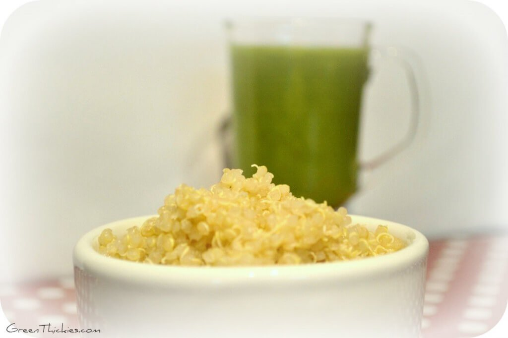 How to make a quinoa smoothie and a Honeydew and peach quinoa smoothie recipe