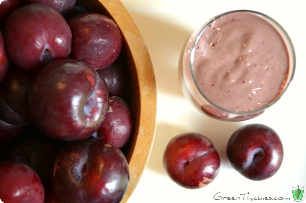 This Spicy Plum Smoothie was a great addition to My Green Thickie Challenge