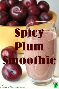 If you like spicy food you'll adore this Spicy Plum Smoothie