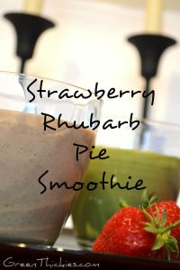 You can turn this Strawberry Rhubarb Pie smoothie into a green smoothie very easily which I totally recommend