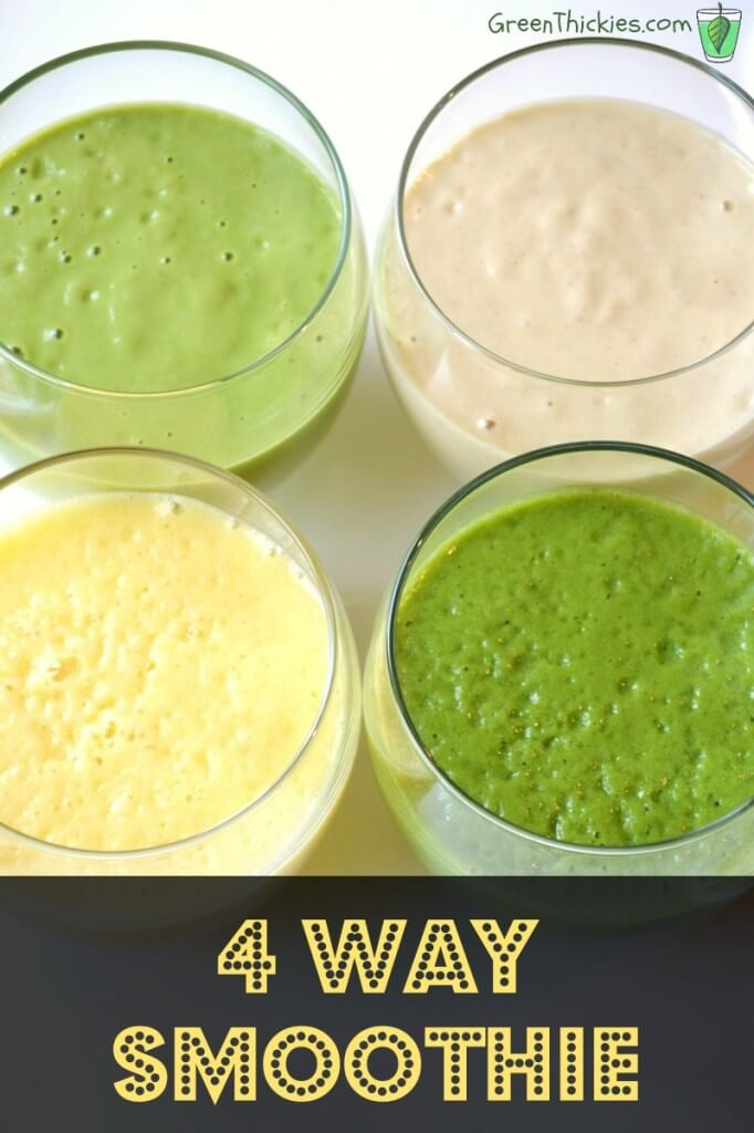 4 Way Smoothies: How to make a fruit smoothie to suit everybody