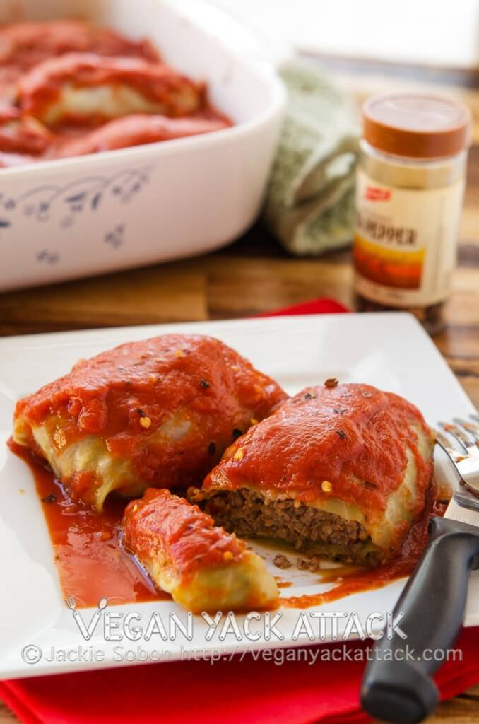 Golabkis Stuffed Cabbage Rolls Vegan Yack Attack