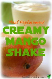 Meal Replacement Creamy Mango Shake