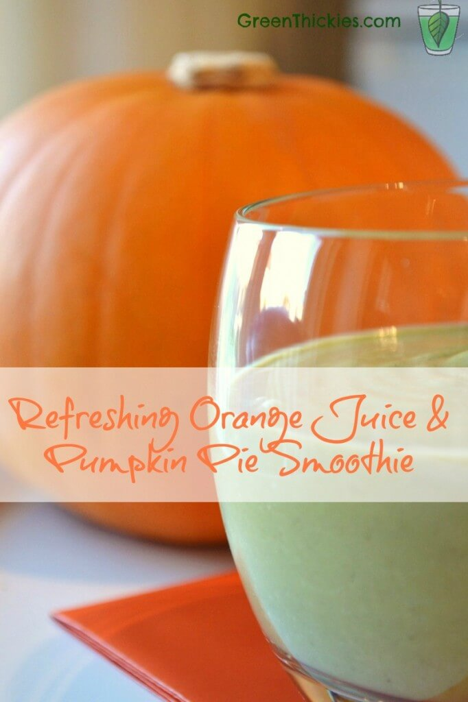 Refreshing Orange juice and pumpkin smoothie