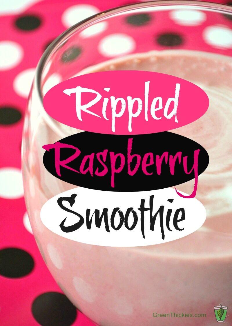 Rippled Raspberry Smoothie