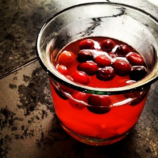 Cranberry Ginger Hot Toddy (Alcohol & Sugar Free)