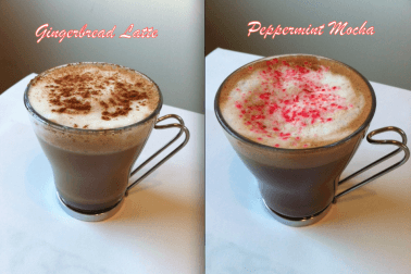 HEALTHY GINGERBREAD LATTE AND PEPPERMINT MOCHA