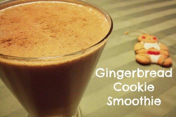 Vegan Gingerbread Cookie Smoothie