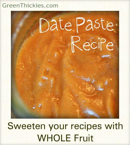 Sweeten your recipes with date paste