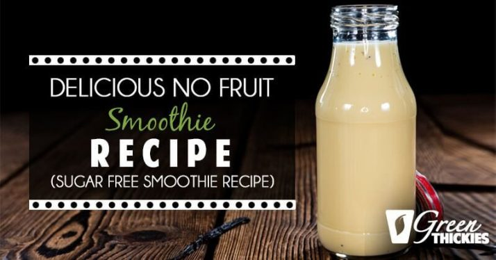 Delicious No fruit smoothie Recipe (sugar free smoothie recipe)