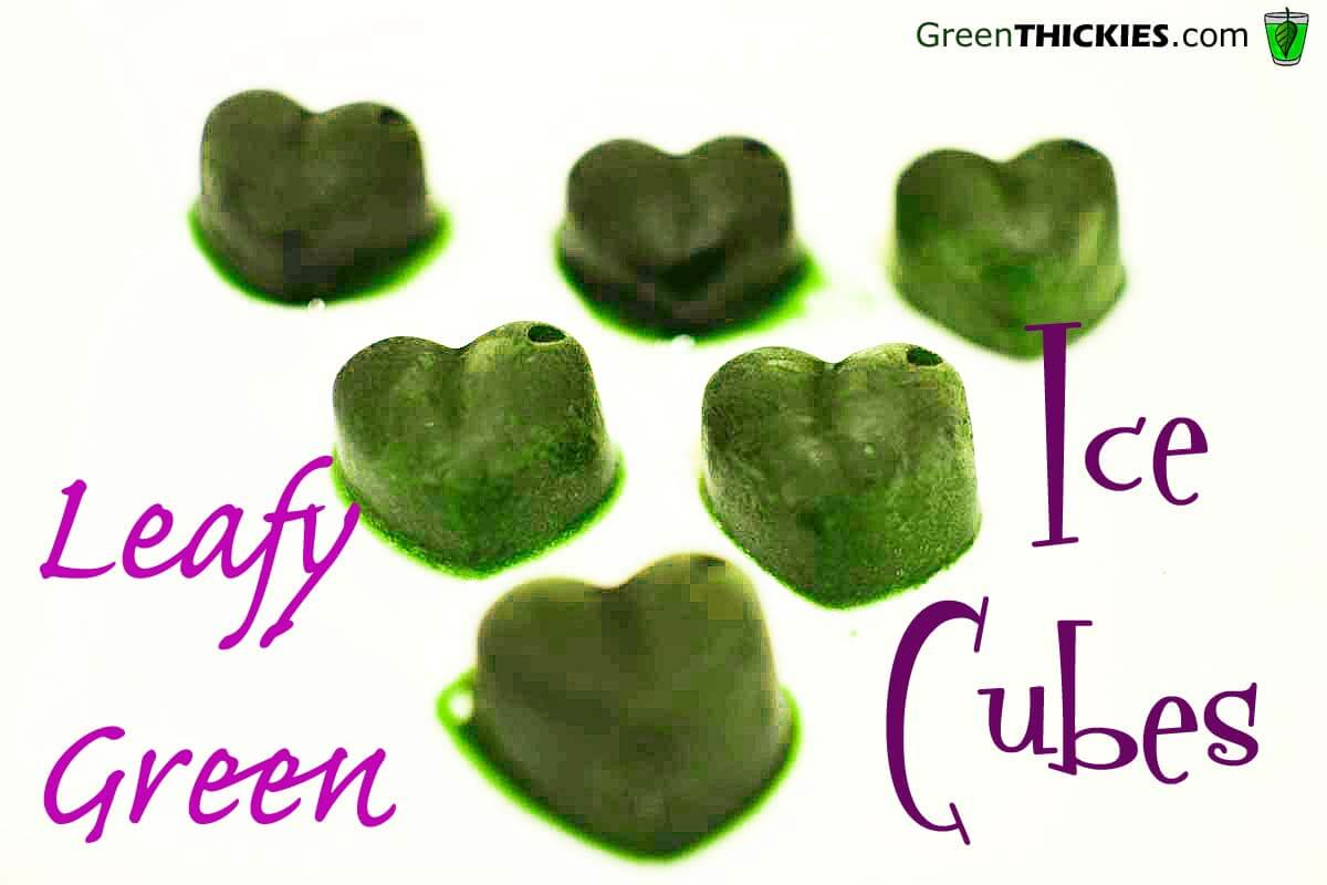 Leafy Green Ice Cubes