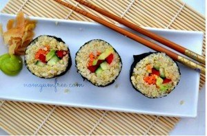 Looking for a Healthier Sushi Quinoa Sushi and Pickled Ginger