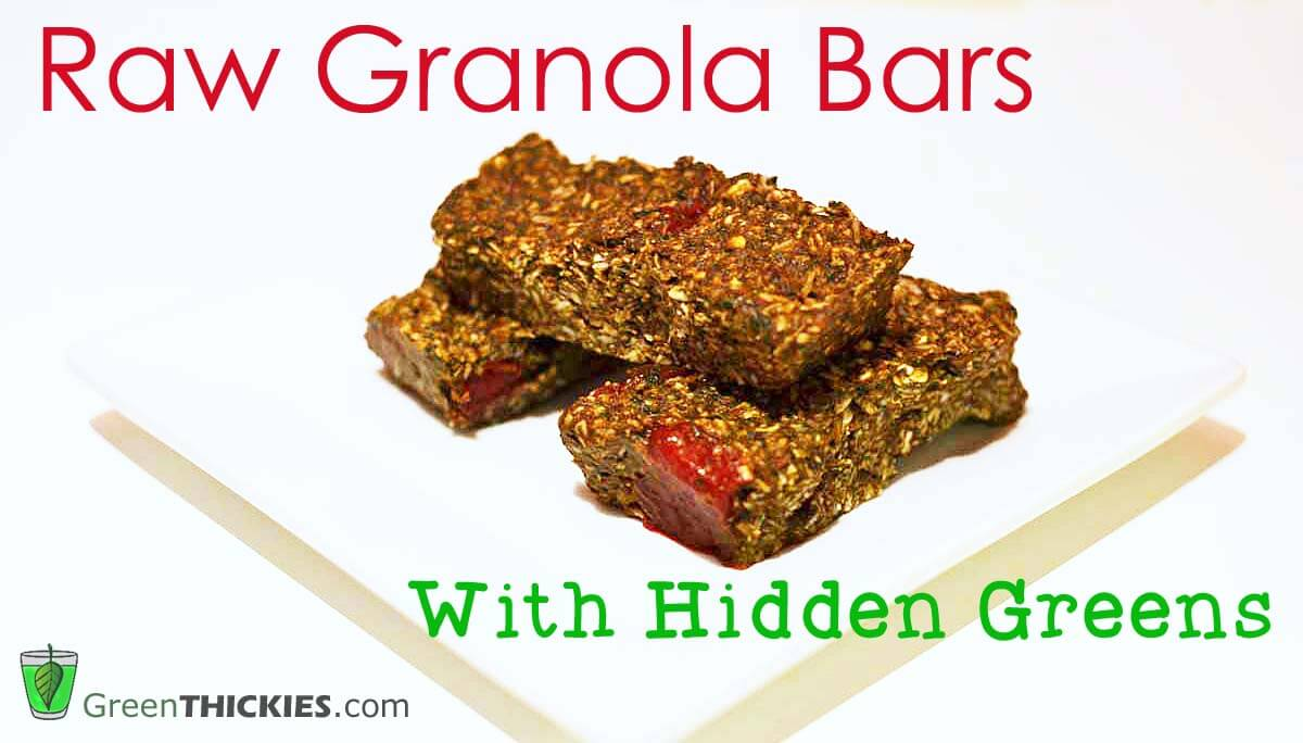 Raw Granola Bar Recipe With Hidden Greens