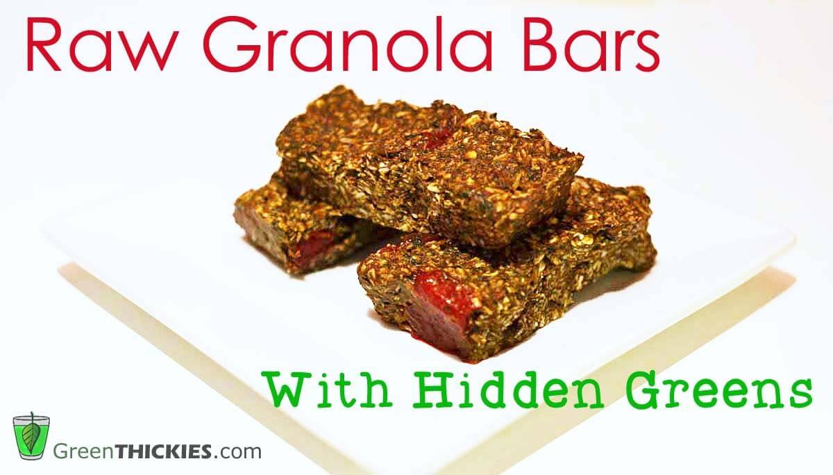 Raw Granola Bar Recipe With Hidden Greens