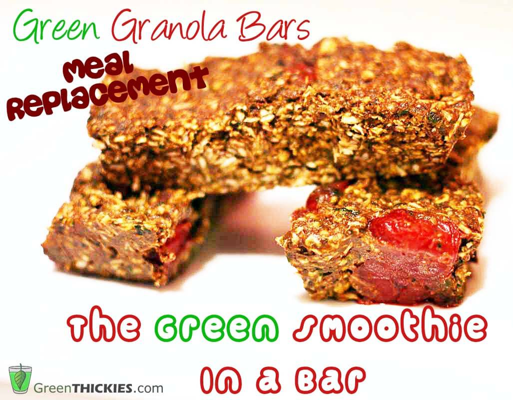 The green smoothie in a bar: The meal replacement Green Granola Bar