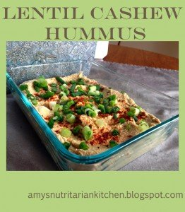 Lentil and Cashew Hummus