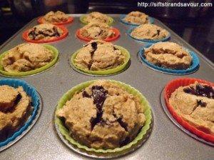 PEANUT BUTTER CHOCOLATE CHIP MUFFINS- Vegan, Gluten-Free, Refined Sugar-Free & Oil-Free