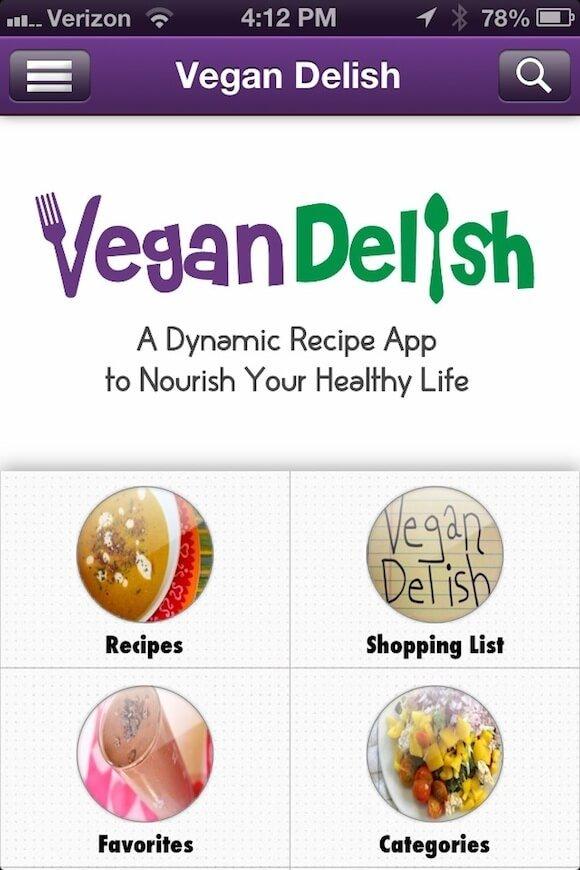 Vegan-Delish-iPhone-screenshot
