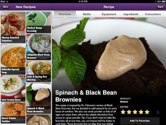 iPad-screenshot Vegan Delish