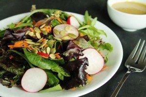Radish & Carrot Salad with Agave Dijon Dressing