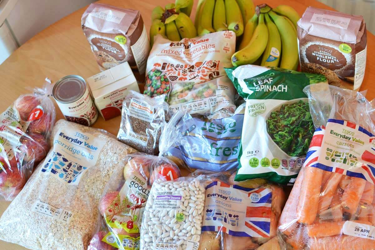 What food I bought for living below the line