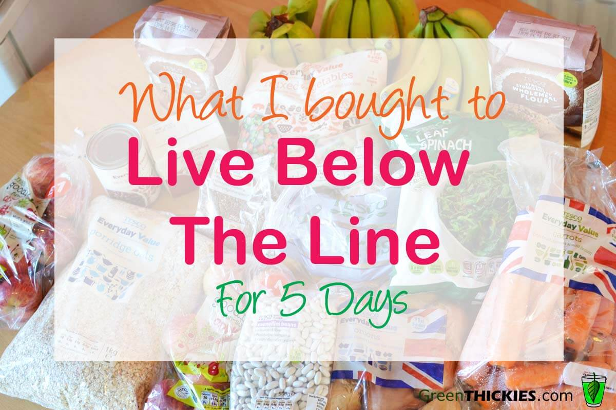 What food I purchased for living below the line for 5 days