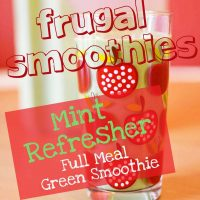 Mint Refresher (Frugal Full Meal Green Smoothie)
