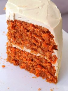 Enlightened Carrot Cake with Quick Cream Cheese Icing (raw, vegan, GF)