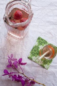 strawberry rosemary sun-tea – goodness in a glass