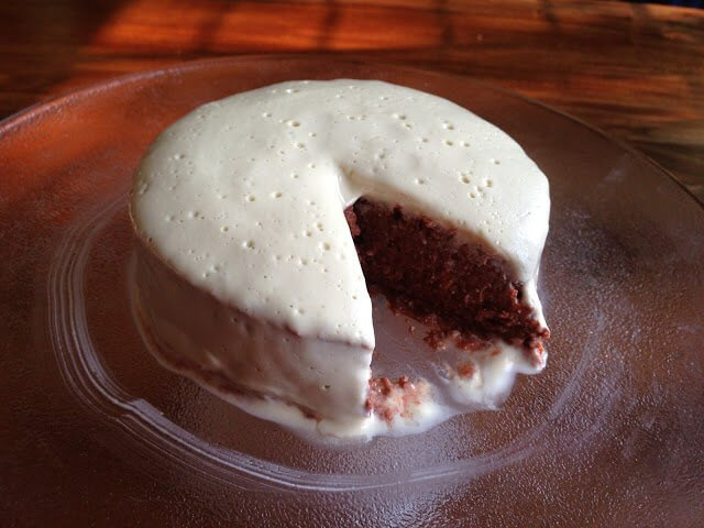 Carrot-Apple-Cocoa 'Cake' with Cashew Orange Cream