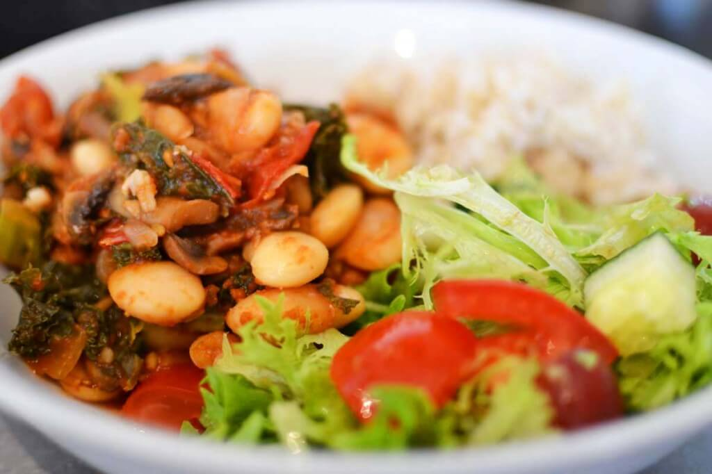 Mushroom & White Bean Chilli and Rice