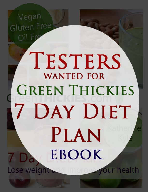 Diet and Recipe Testers wanted for 7 Day Diet Plan ebook